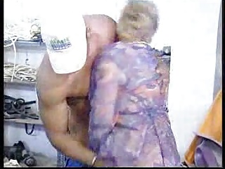 German Granny Fucked By Black Man