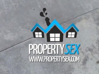 PropertySex – Tenant With Amazing Natural Boobs Busted For Porn Torrents