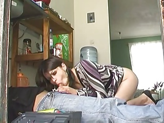 Sexy Lomg Legged Latina Housewife Fucks The Repairman