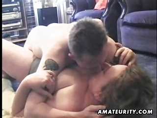 Mature And Busty Amateur Wife Sucks And Fucks A Young Guy