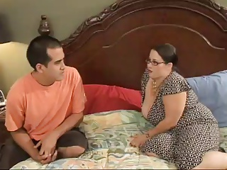 Sexy BBW Mom Seduces Horny Young Stud