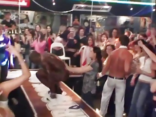 Male Stripper At Cfnm Party (classic CFNM Party)