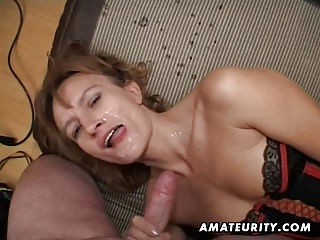 Amateur Milf Gets Her Ass And Pussy Toyed With Facial Cum