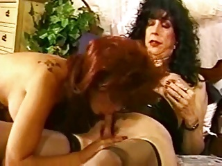 Cute Little Redhead Takes On A Mature Shemale