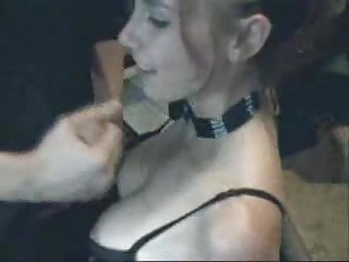 Amateur Gothic Girl Sucking Dick