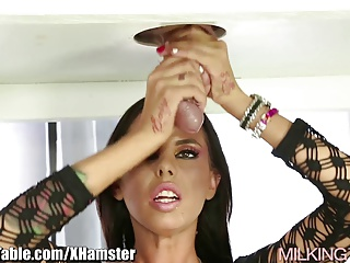 Milking Table Brandy Aniston Milking Cock With Deep Throat