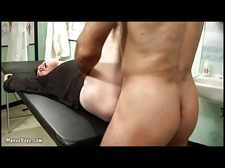 Old Gay Doctor Probes His Patients Ass With Dick