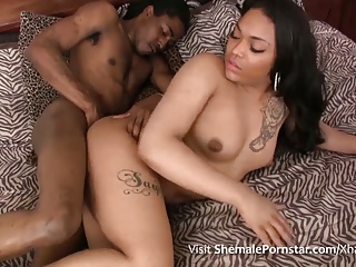 Kandii Red & Fucked By R.O.C Big Black Cock!