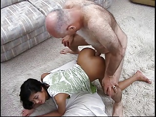 Grandpa Meets And Fucks Hot Asian Babe In Parking Garage