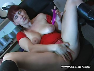 Busty Amateur Wife Toying Sucking And Fucking On A Table