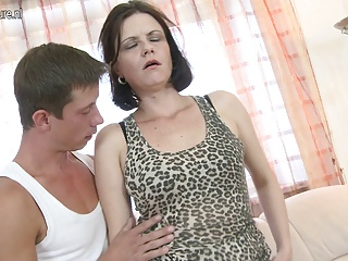 Amateur Mature Mother Fucks Her Young Boy
