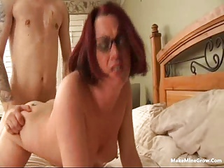 Redhead Babe Licked Her Pussy And Fucked