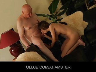 Horny Young Girl Is Fucking His Old Husband