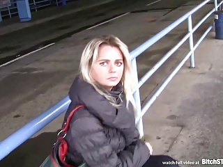 Bitch STOP – Blonde Czech MILF Picked Up At The Bus Station